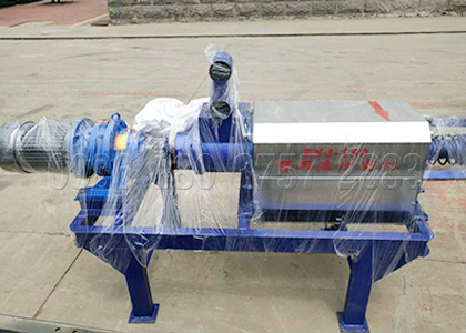 Cow dung drying machine