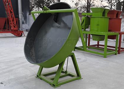 Mini disc npk compound fertilizer granulation equipment