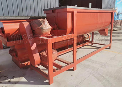 Single Shaft Organic fertilizer powder blending machine
