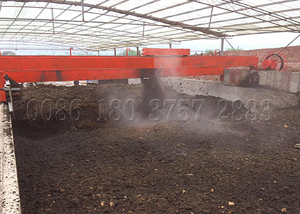 Wheel Type Compost Turner