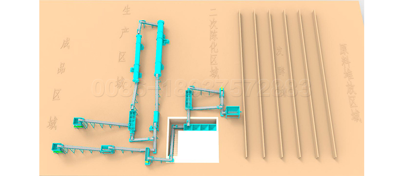 complete machinery for waste fertilizer production line