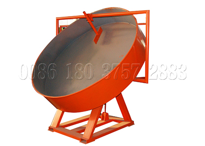 Disc granulating machine for fertilizer granules making