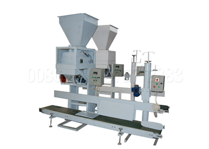Packing machine for fertilizer products bagging