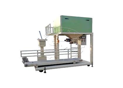 Bag filling machine for fertilizer packing