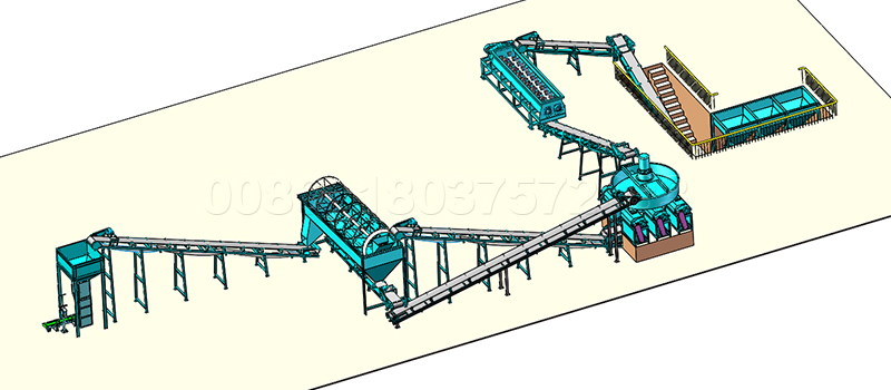 Extrusion Granular Potassium Fertilize Production Line