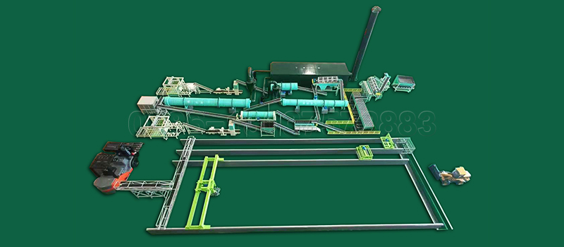 Full set of organic fertilizer making machines